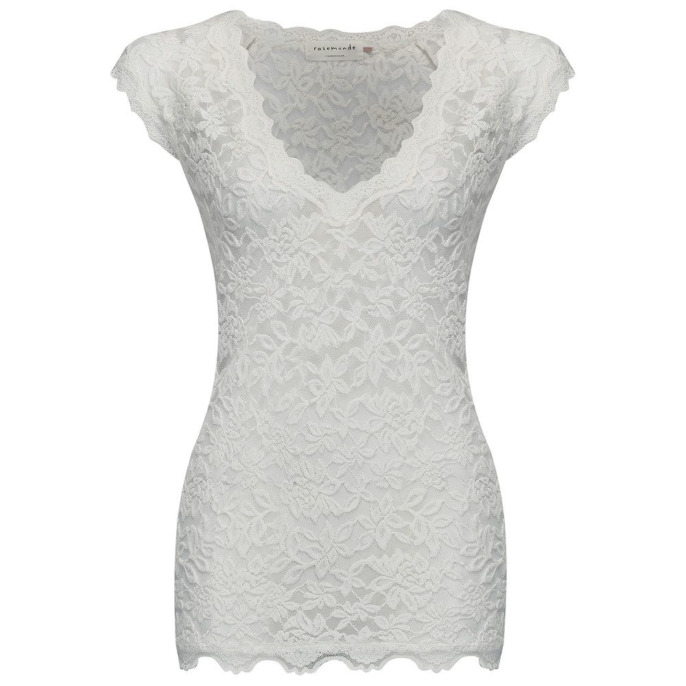 Delicia Short Sleeve Lace Top - New White
