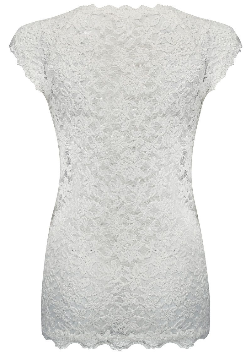 Rosemunde Delicia Short Sleeve Lace Top - New White main image