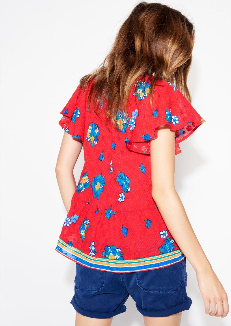 Pino Floral Top - Rouge main image