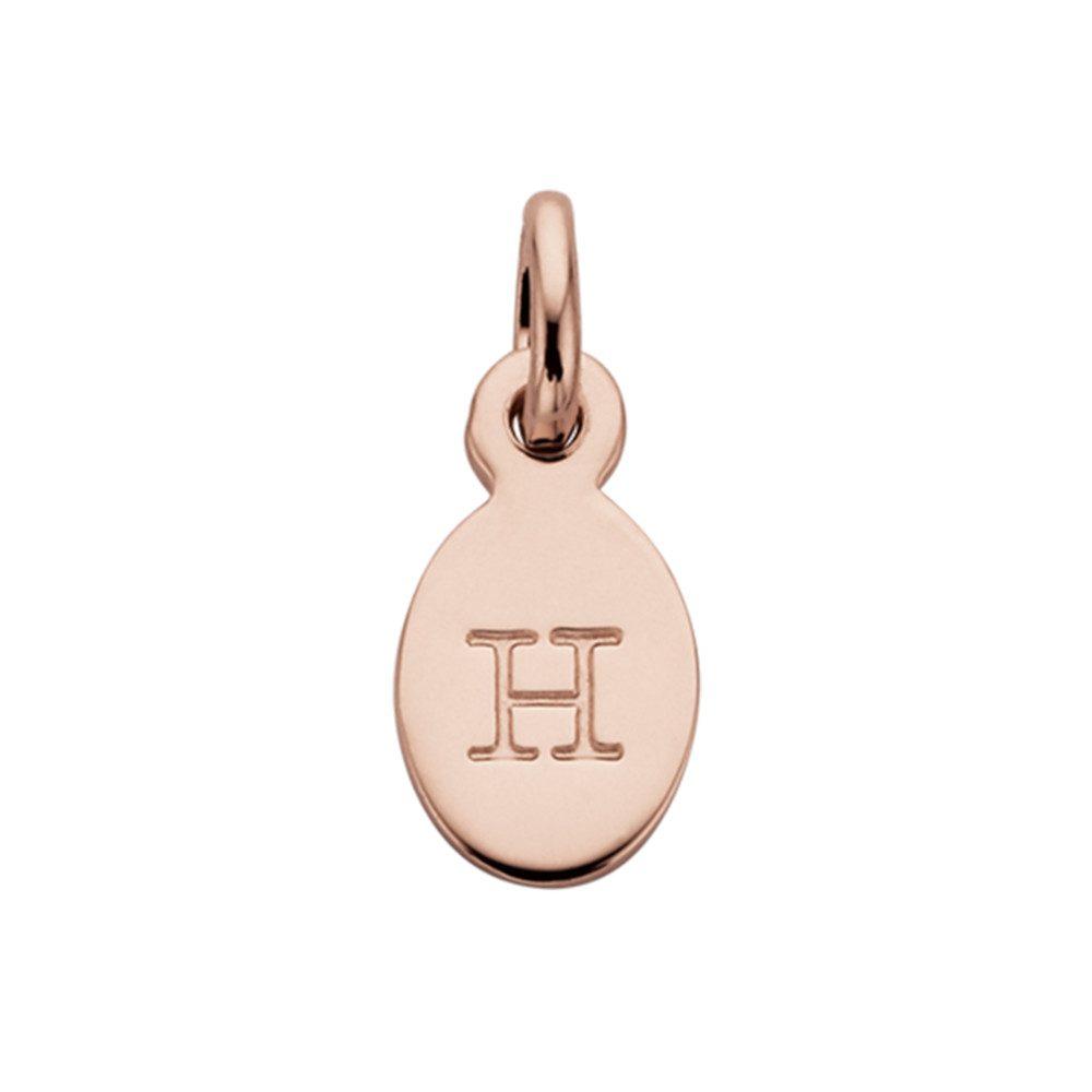 Bespoke Alphabet 'H' Charm - Rose Gold