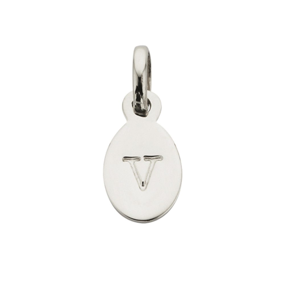 Bespoke Alphabet 'V' Charm - Silver