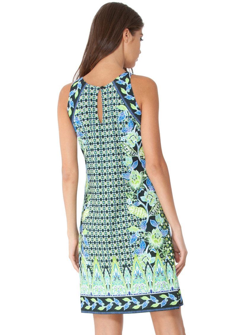 Hale Bob Karina Printed Dress - Lime main image