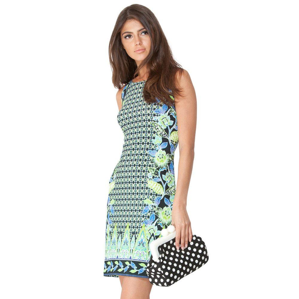 Karina Printed Dress - Lime