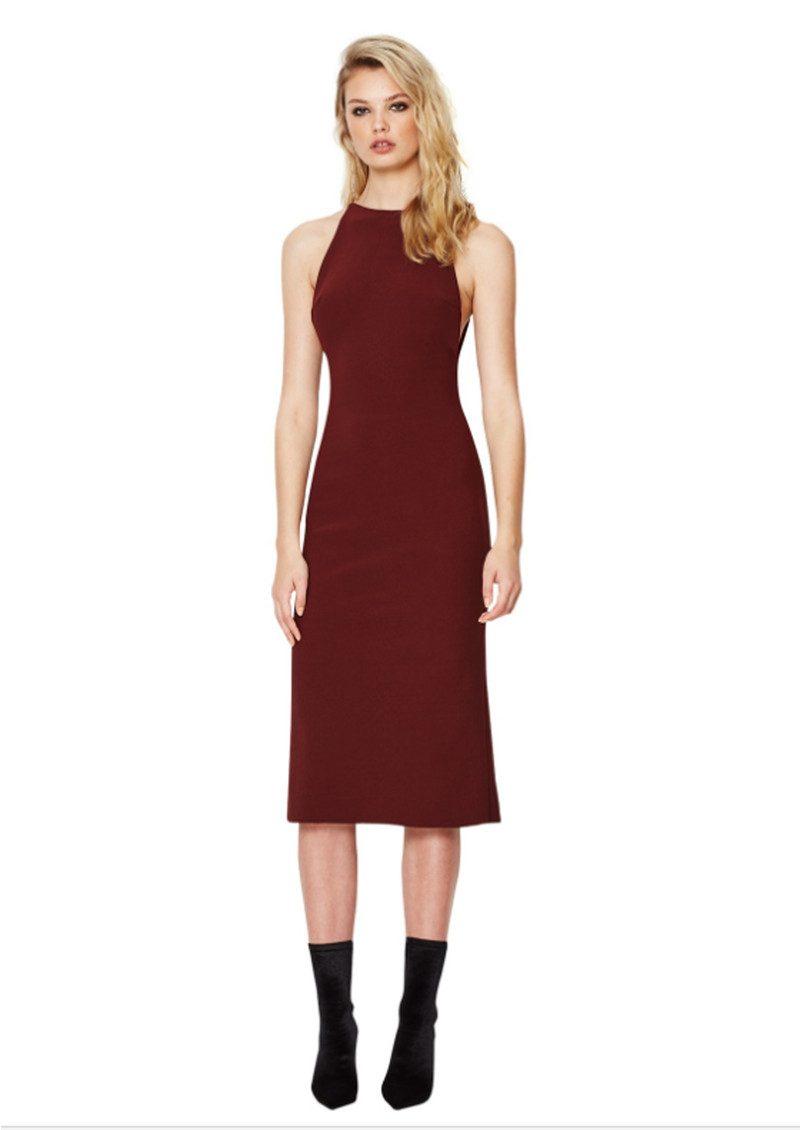 BEC & BRIDGE Love Ruler Dress - Deep Rouge main image