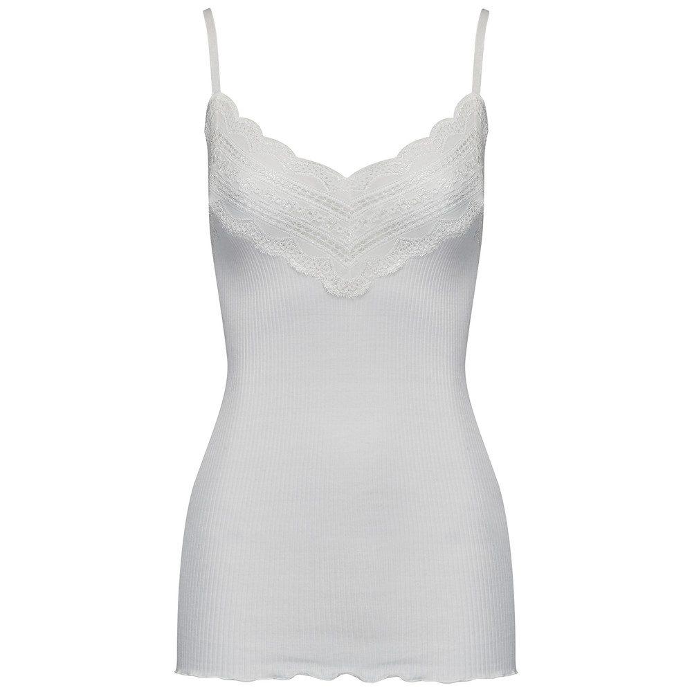 Wide Lace Strap Top - New White