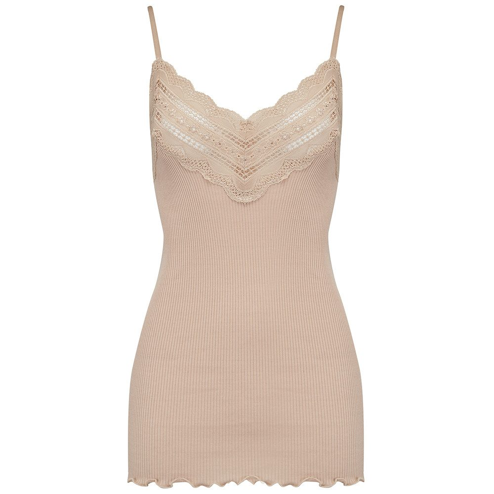 Wide Lace Strap Top - Cacao