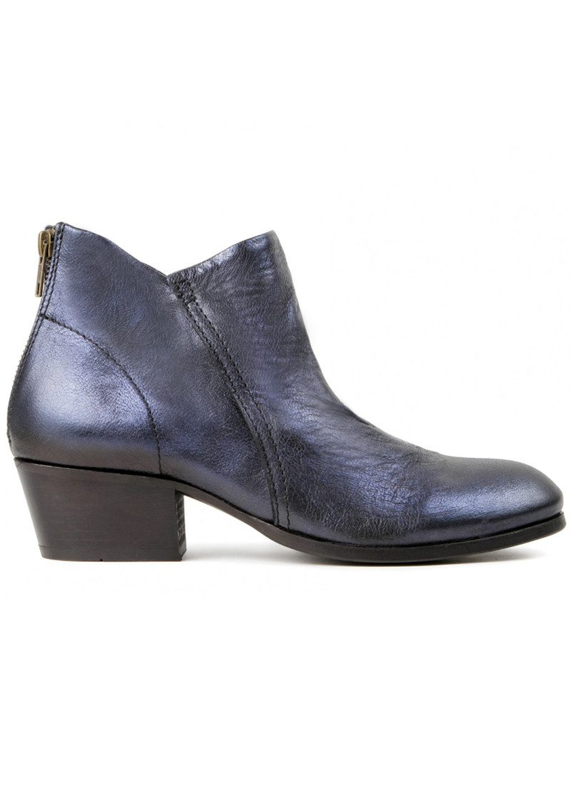Hudson London Apsi Metallic Leather Boots - Navy main image