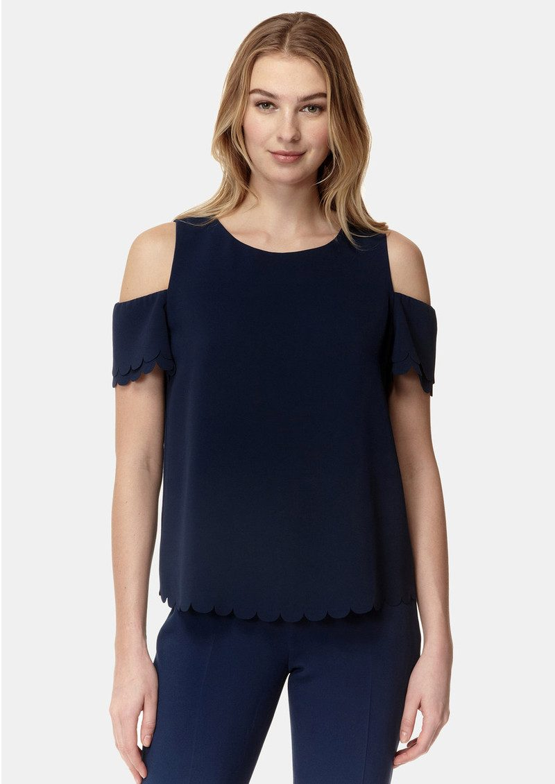 COOPER AND ELLA Mila Scallop Top - Navy main image