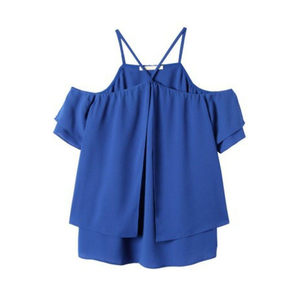 Chloe Halter Top - Cobalt Blue