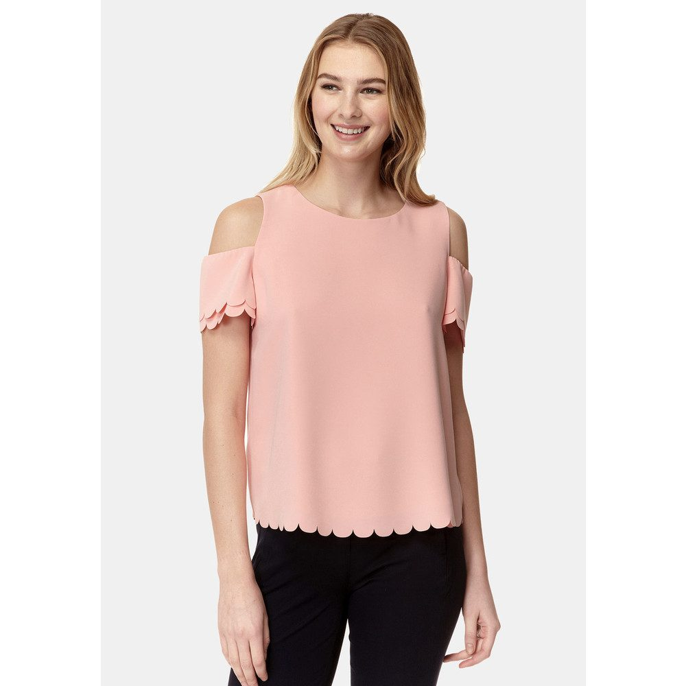 Mila Scallop Top - Salmon