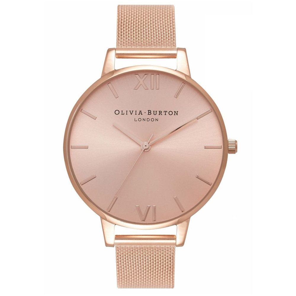 Big Sunray Dial Watch - Rose Gold
