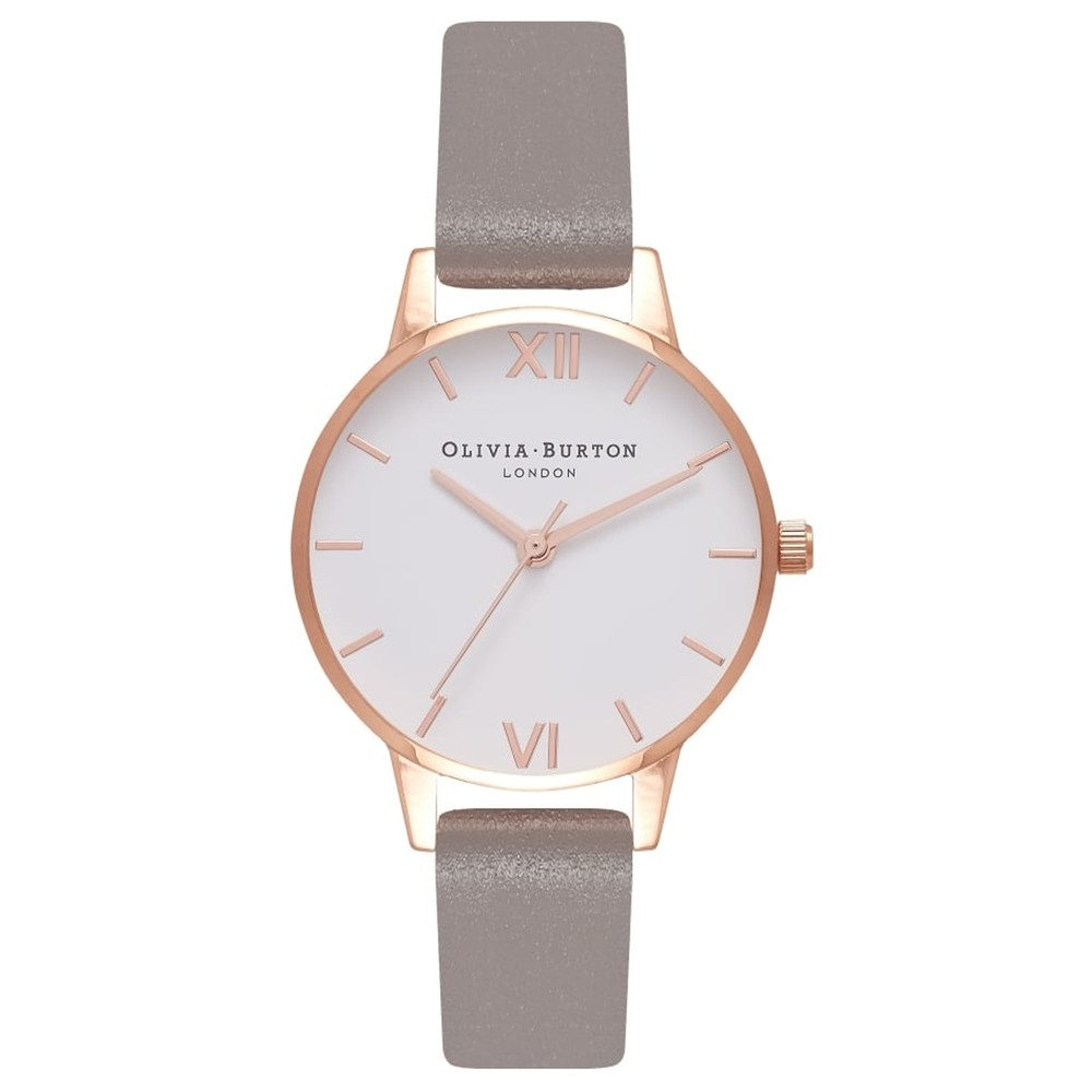 Midi White Dial Watch - Iced Coffee & Rose Gold