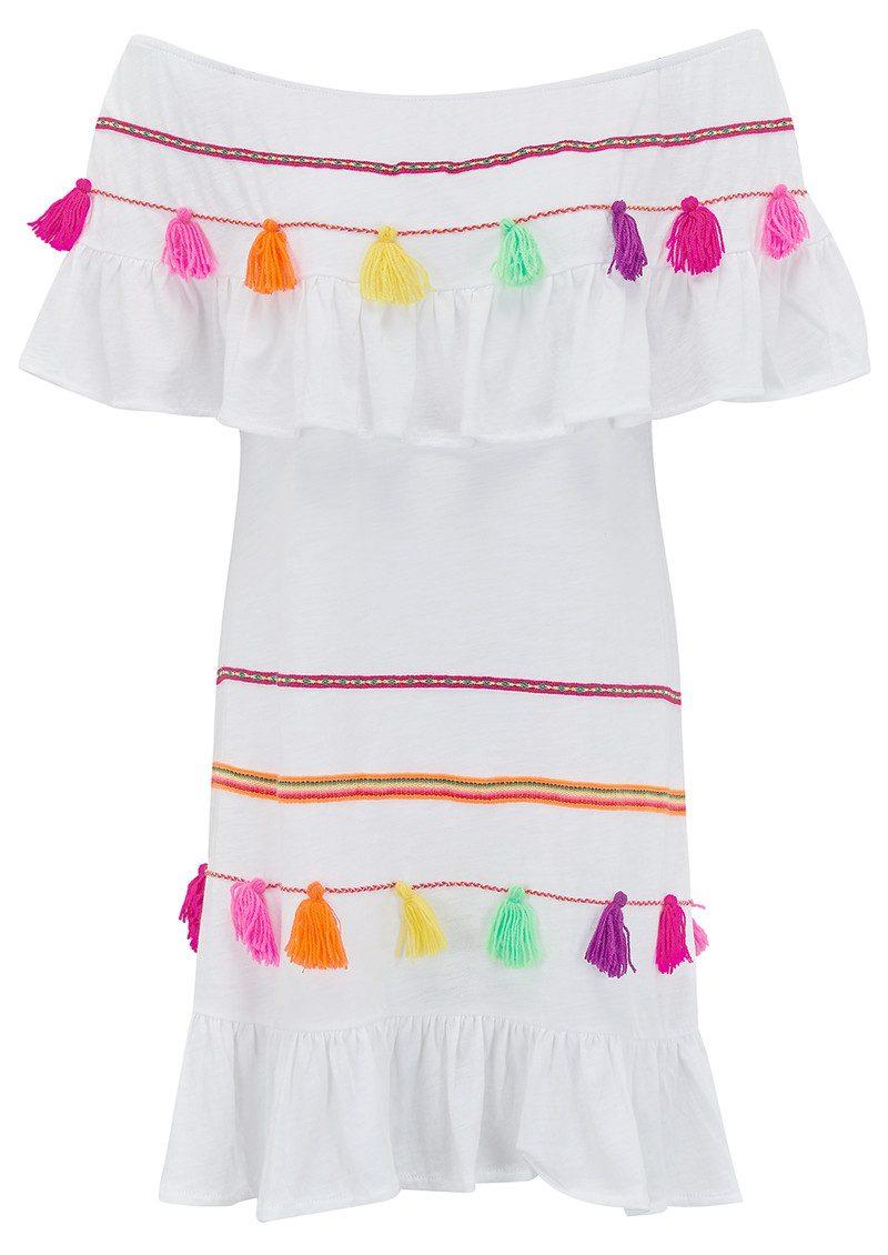 PITUSA Fiesta Dress - White main image