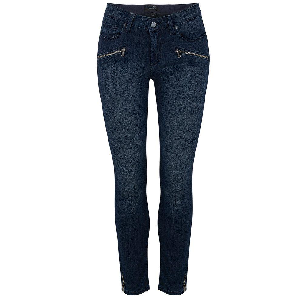 Jane Zip Crop Jeans - Wilson