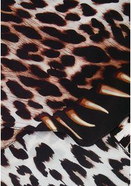 ROCKINS Leopard's Teeth Classic Skinny Silk Scarf - Gold