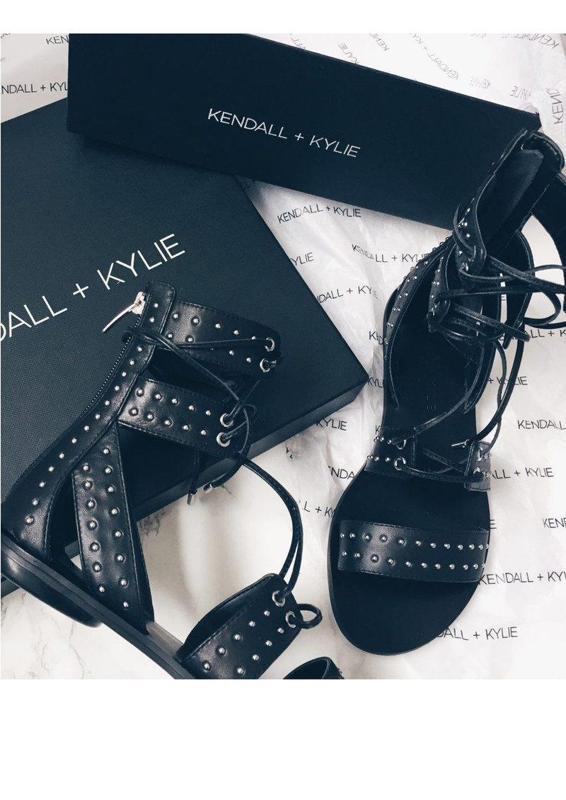 KENDALL & KYLIE Fabia Gladiator Sandals - Black main image