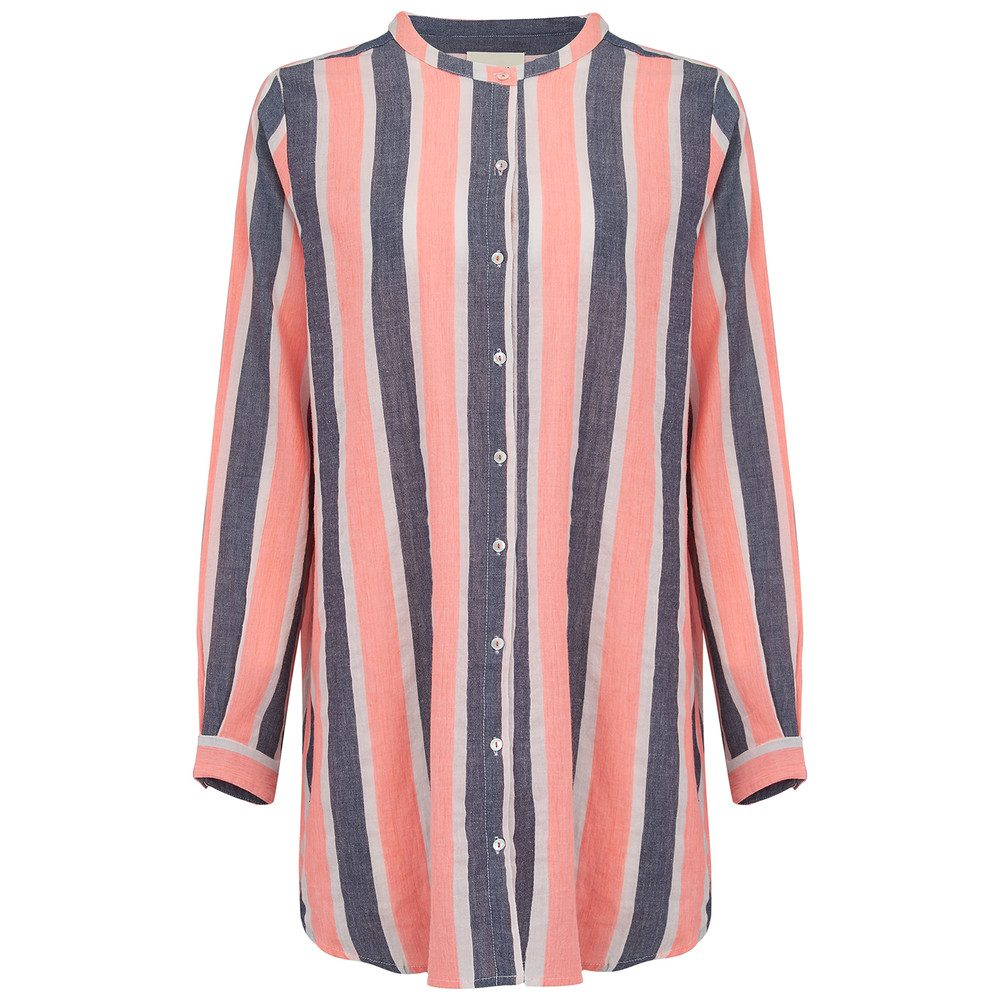 Lenora Cotton Shirt Dress - Stripe