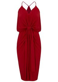 MISA Los Angeles Domino Spaghetti Strap Dress - Red