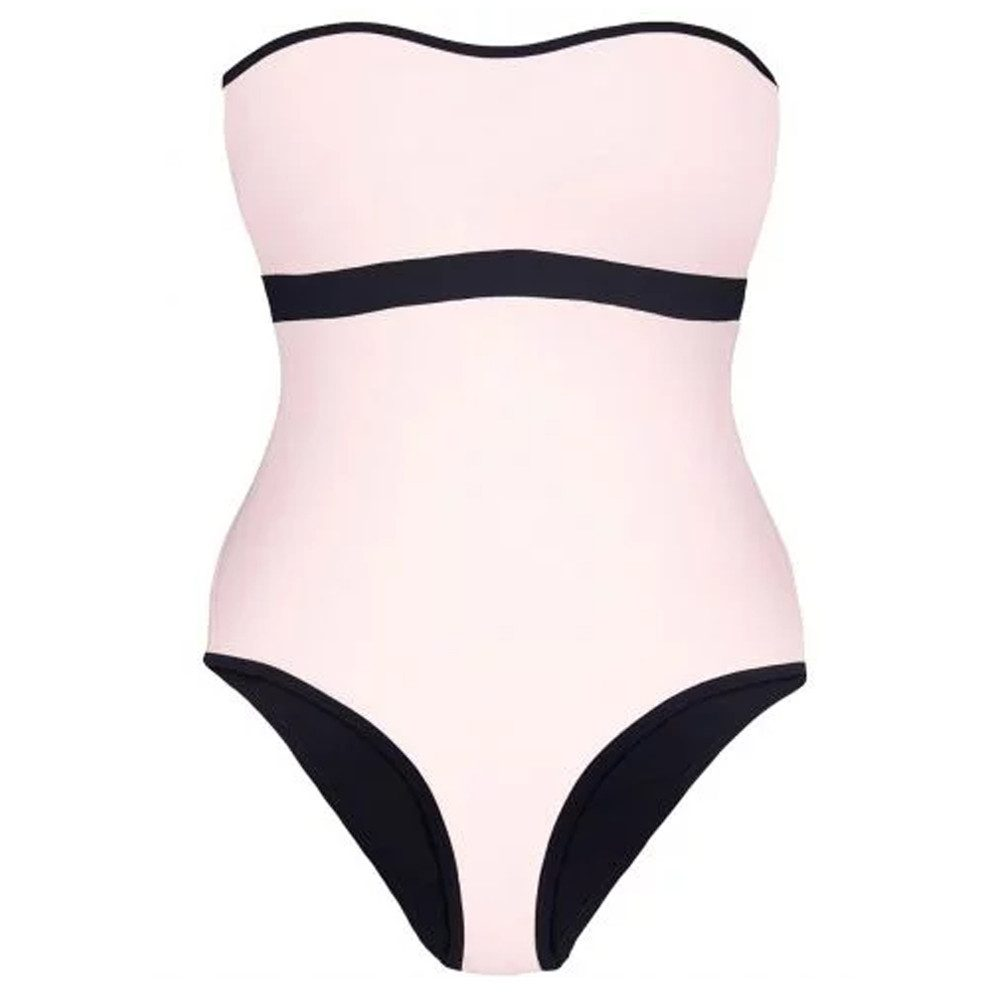Reversible Bandeau One Piece - Black & Pink