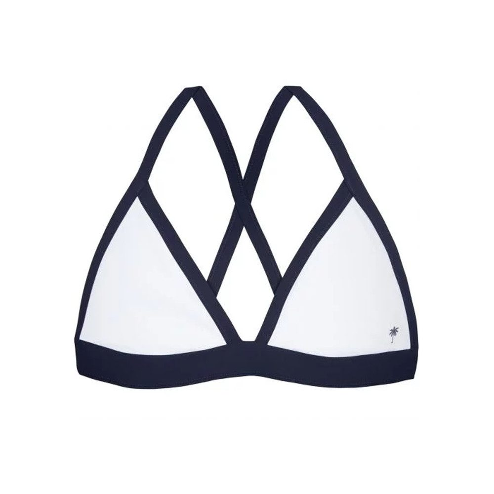 Reversible Binding Triangle Top - White & Navy