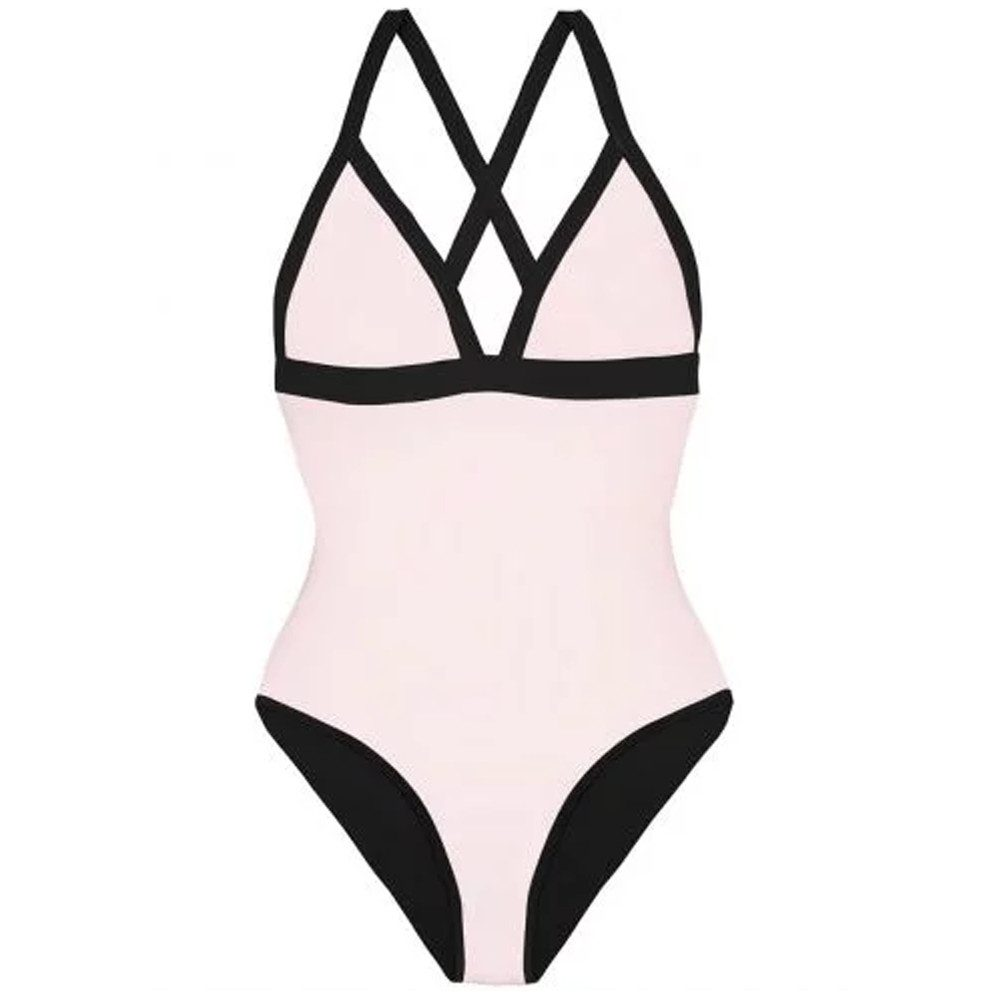 Reversible Triangle One Piece - Black & Pink