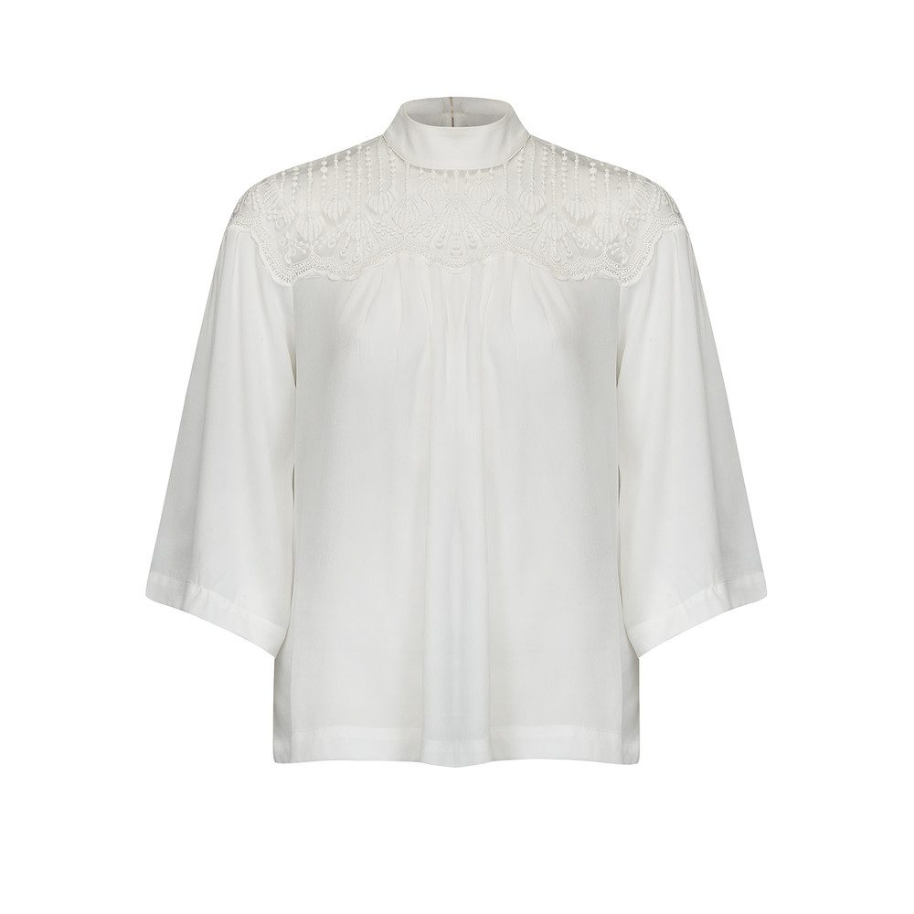 Dennie Lace Top - New White
