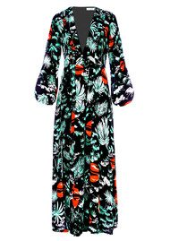 RIXO London PRE ORDER Camellia Dress - Green Oriental Sky