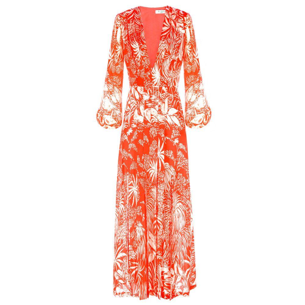 Camellia Dress - Red Oriental Jungle