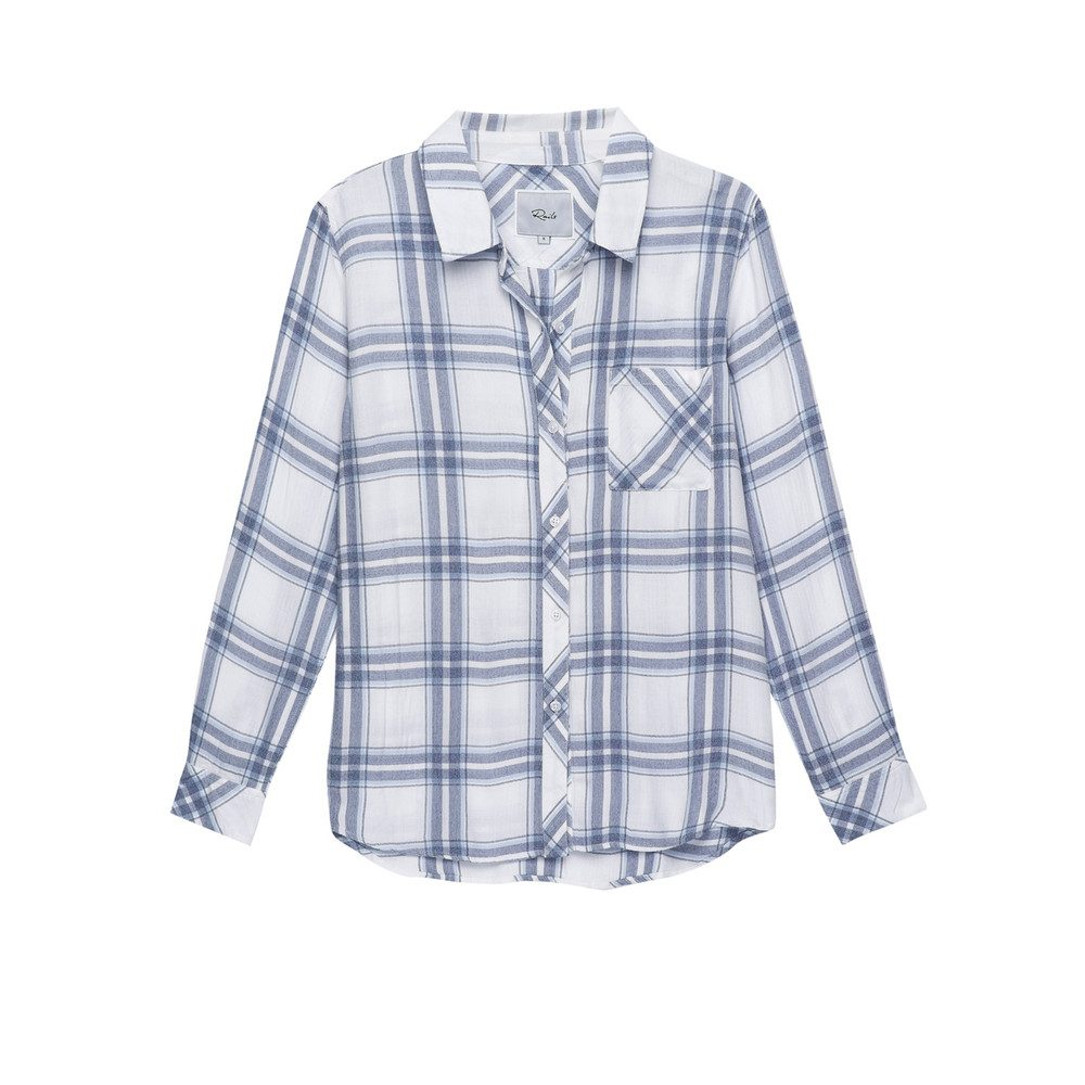 Hunter Shirt - White Melange Sky
