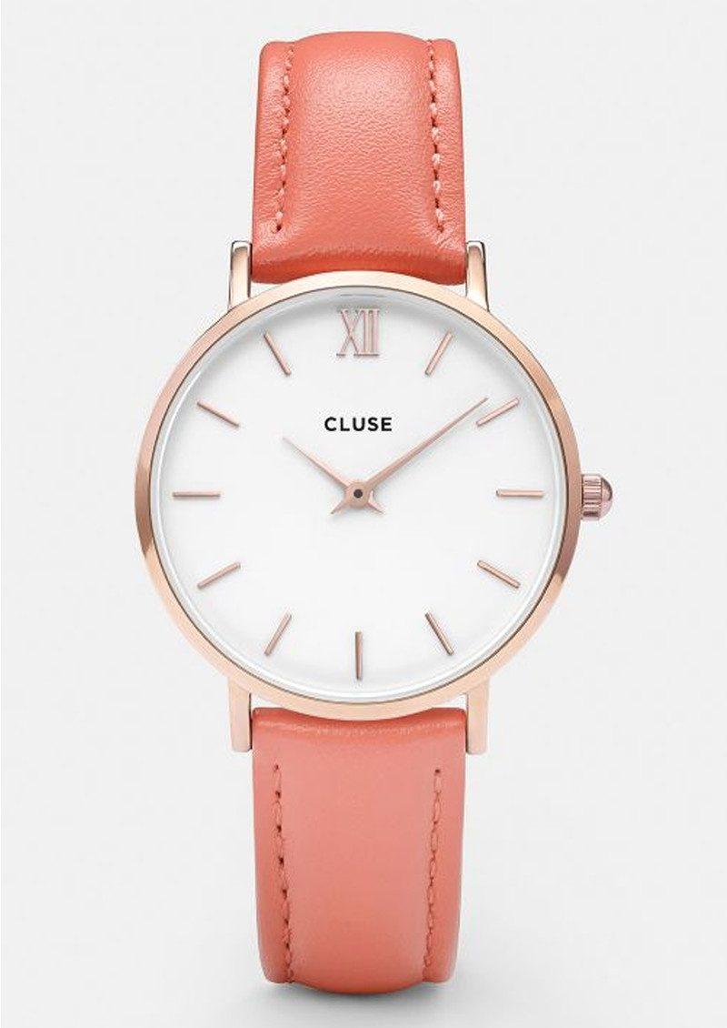 cluse minuit rose gold watch white flamingo. Black Bedroom Furniture Sets. Home Design Ideas