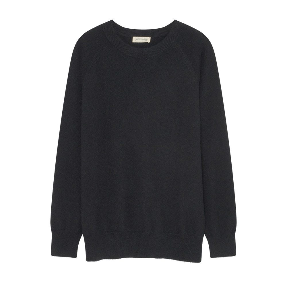 Maxim Long Sleeve Cashmere Jumper - Black