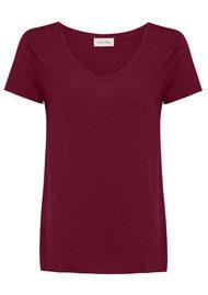 American Vintage Jacksonville Short Sleeve T-Shirt - Grenadine