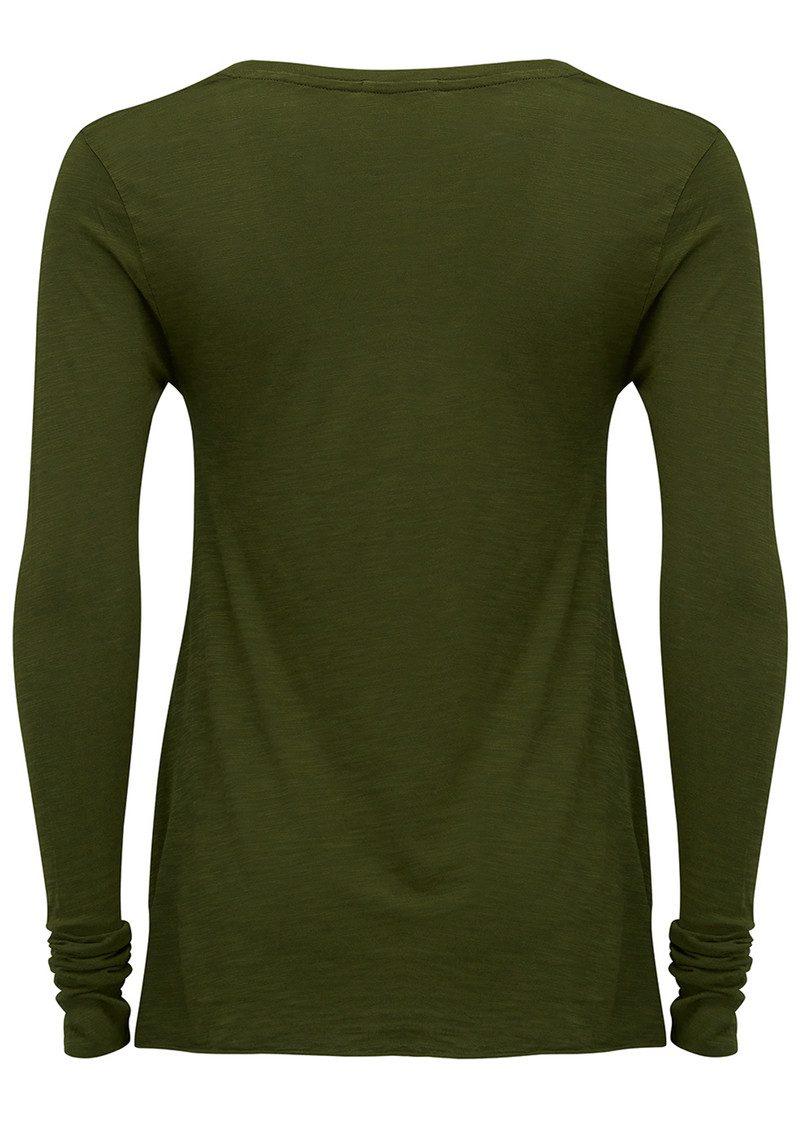 American Vintage Jacksonville Long Sleeved T-Shirt - Avocado main image