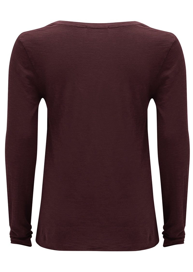 American Vintage Jacksonville Long Sleeved T-Shirt - Morello main image