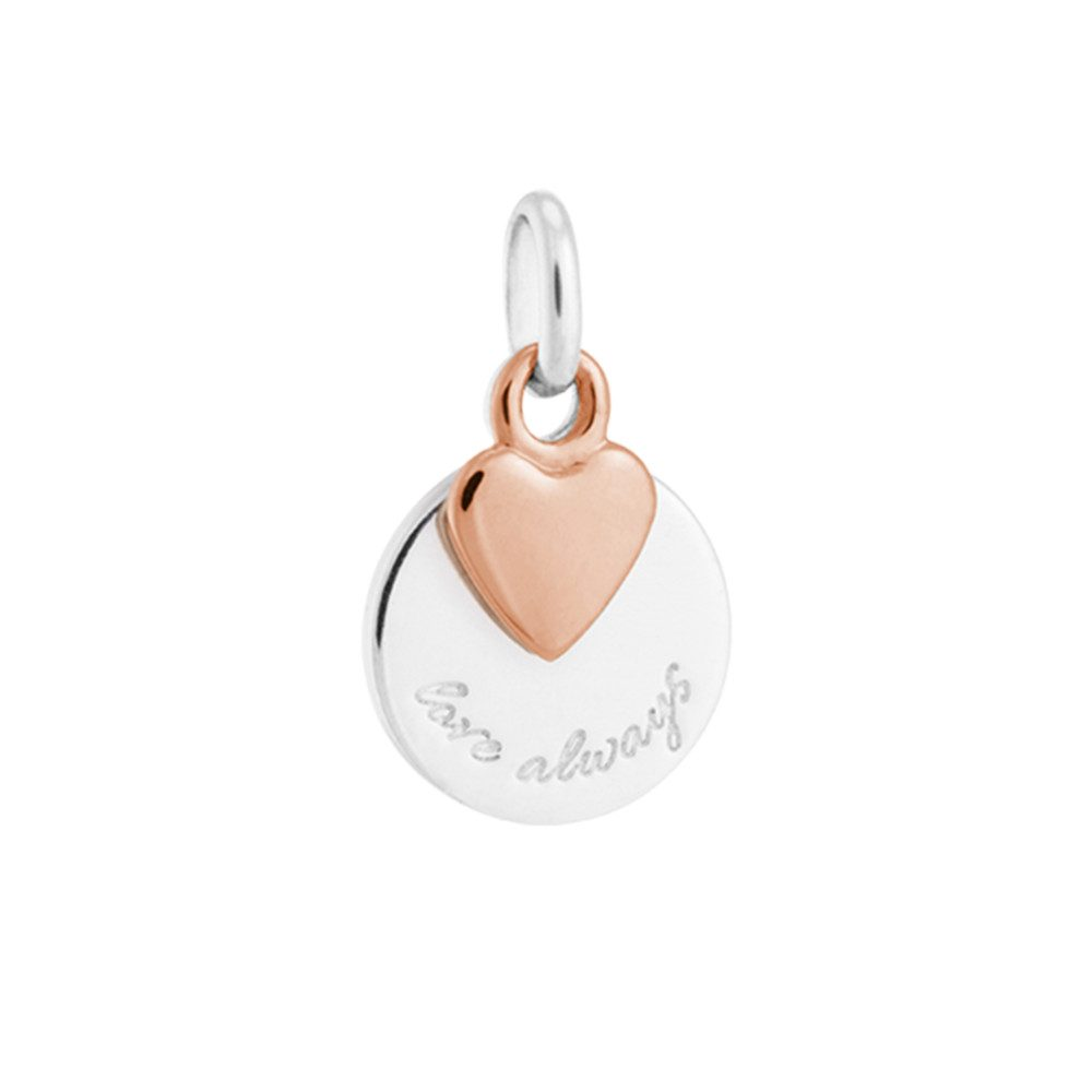Bespoke Love Always Double Charm - Silver & Rose Gold