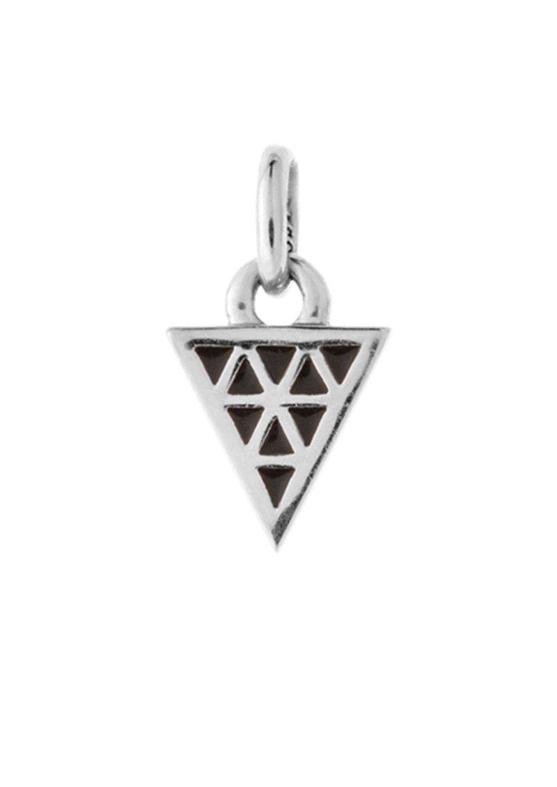 KIRSTIN ASH Bespoke Black Enamel Triangle Charm - Silver main image