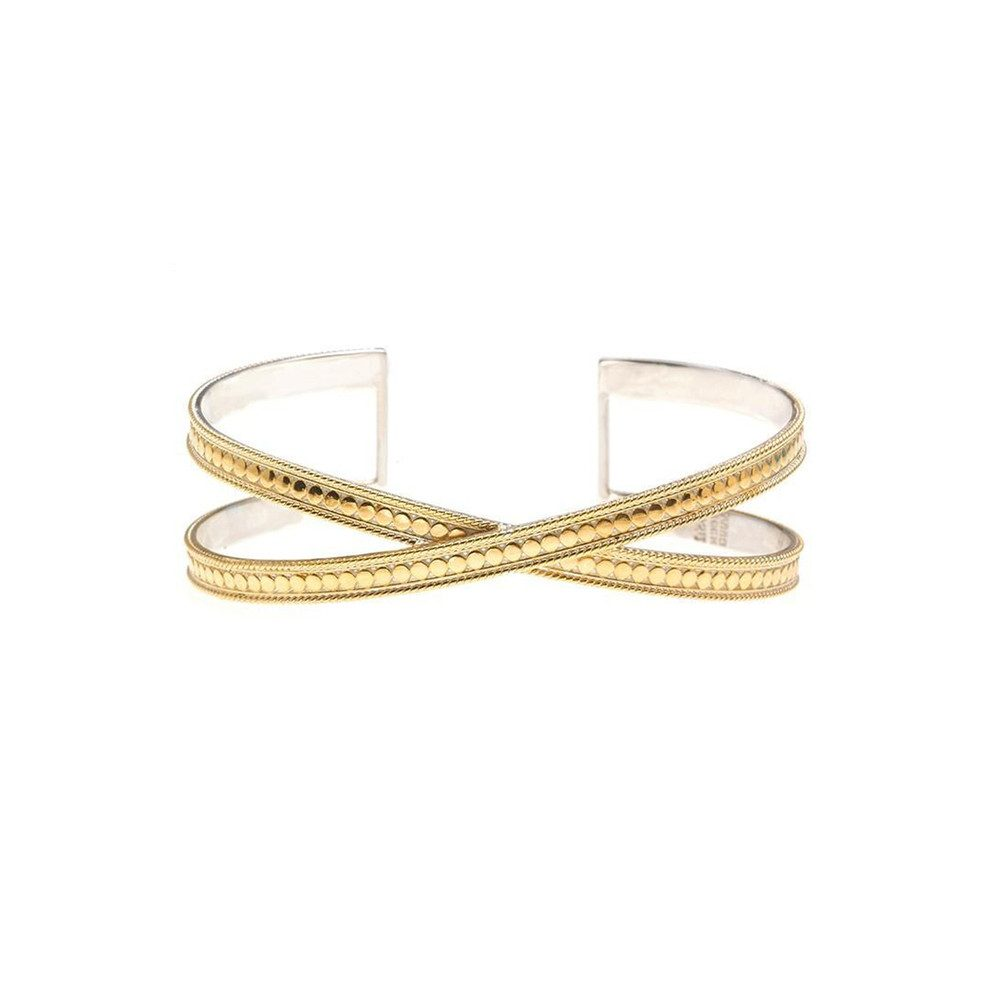 Single Cross Cuff - Gold