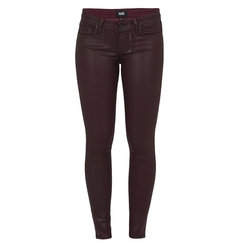 Verdugo Coated Skinny Jeans - Wine Luxe