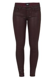 Paige Denim Verdugo Coated Skinny Jeans - Wine Luxe