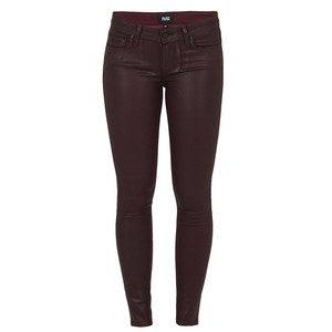 Verdugo Coated Skinny Jeans - Wine Luxe