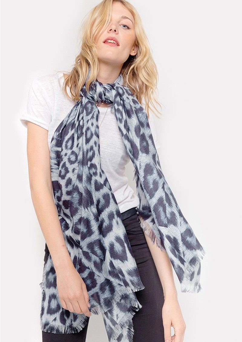 Lily and Lionel Kitty Leopard Scarf - Sky main image