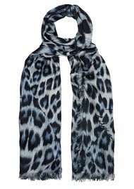Lily and Lionel Kitty Leopard Scarf - Sky