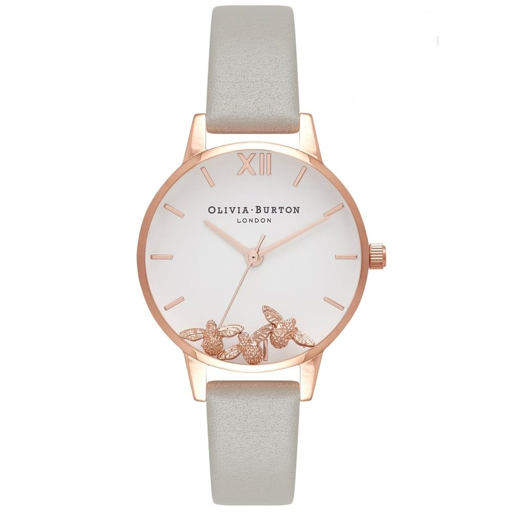 Busy Bee's Watch - Grey & Rose Gold