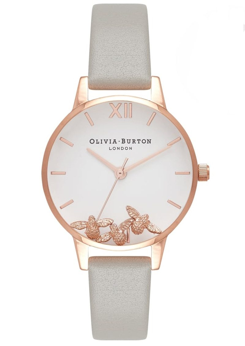 Olivia Burton Busy Bee's Watch - Grey & Rose Gold main image