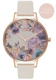 Olivia Burton Vegan Friendly Enchanted Garden Watch - Nude & Rose Gold