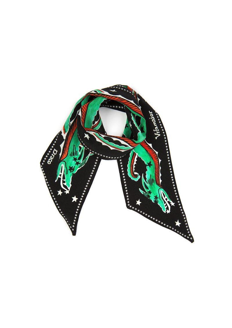 RIXO London PRE ORDER Alexa Neckscarf - Green Dragon main image