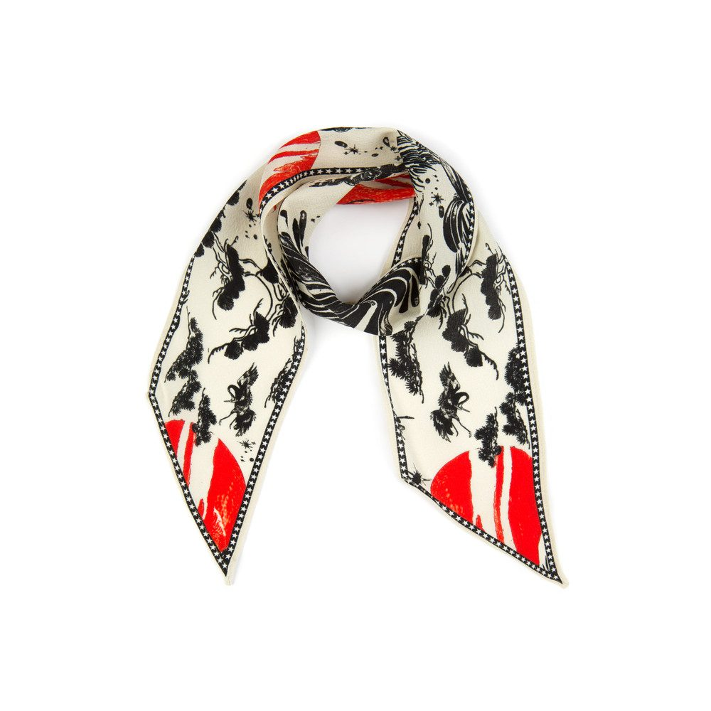 PRE ORDER Alexa Neckscarf - Cream Oriental Sky