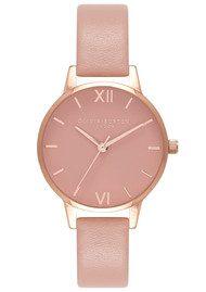 Olivia Burton Midi Dial Rose Petal Dial Watch - Dusty Pink & Rose Gold