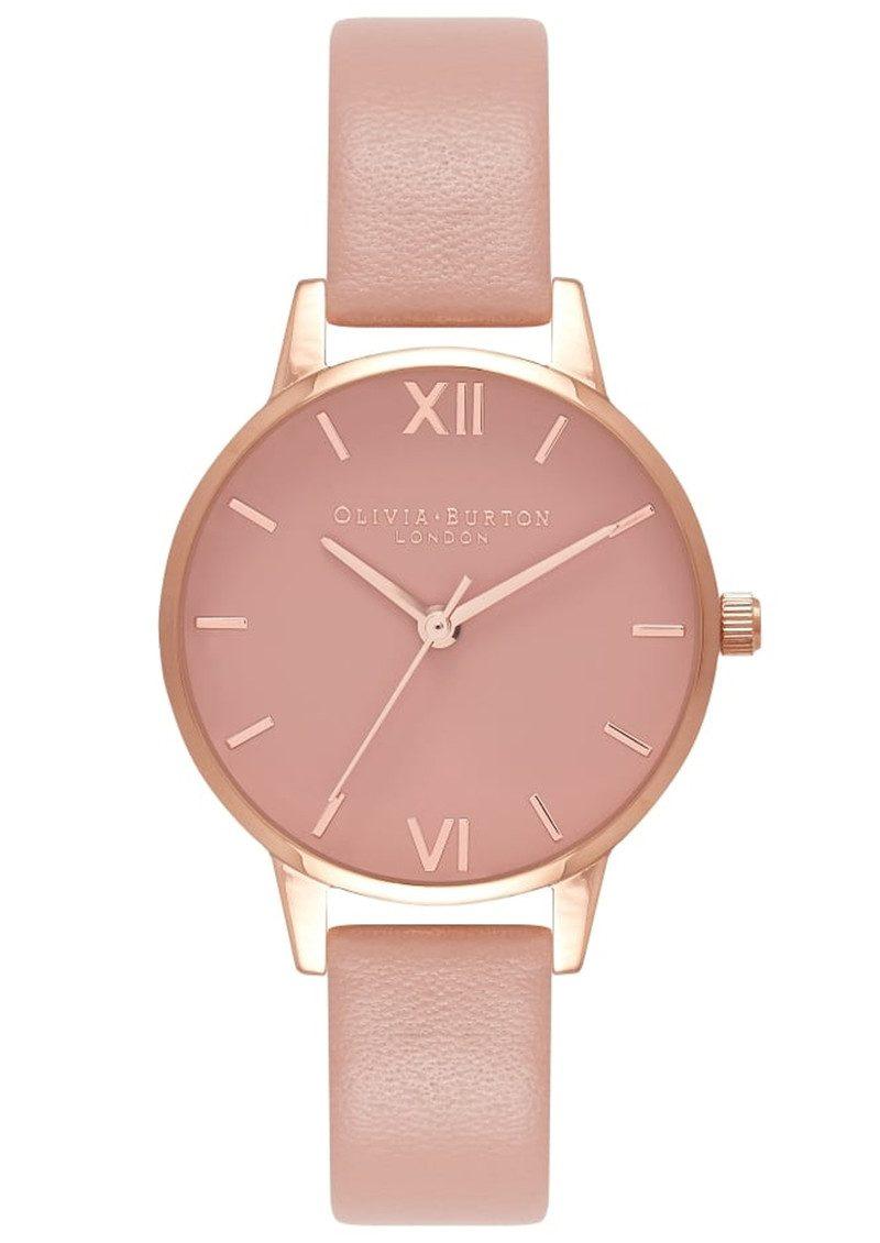 Olivia Burton Midi Dial Rose Petal Dial Watch - Dusty Pink & Rose Gold main image