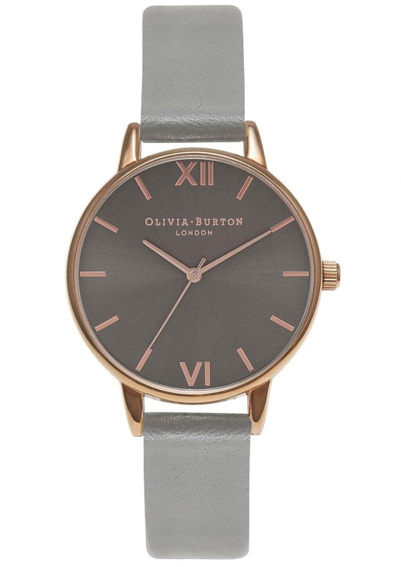 Olivia Burton Midi Dial Grey Dial Watch - Dark Grey & Rose Gold main image